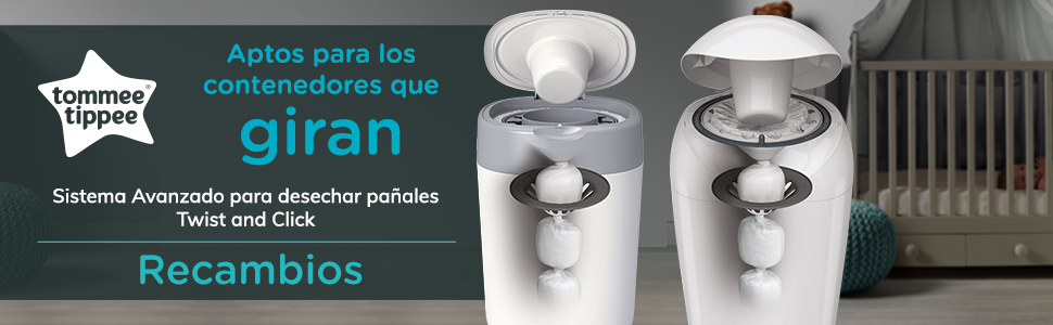 Recambios Tommee Tippee Twist and Click Sangenic