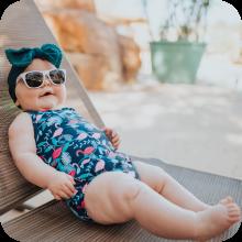 i play sunglasses girls swimsuit swim sun pool splash pad diaper reusable recycle renewable beach