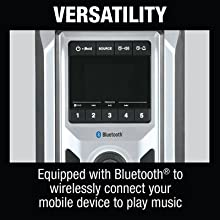 versatility equipped bluetooth wirelessly connect mobile device play music apple android samsung