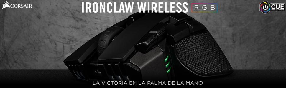 Corsair Ironclaw Wireless RGB - Ratón Recargable Óptico para ...