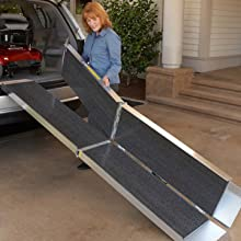 Trifold Aluminium Ramp for Steps and Cars