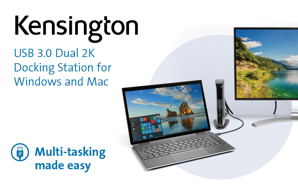Kensington USB 3.0 Docking Station with Dual DVI//HDMI//VGA Video sd3500v