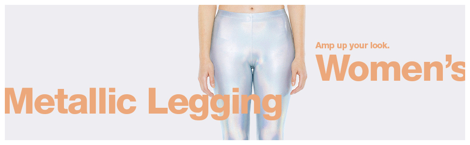 women's, metallic legging, american apparel