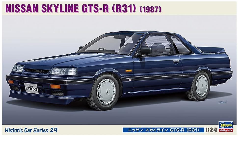 Amazon | ハセガワ 1/24 ヒストリックカーシリーズ ニッサン スカイライン R31 GTS-R プラモデル HC29 | プラモデル 通販