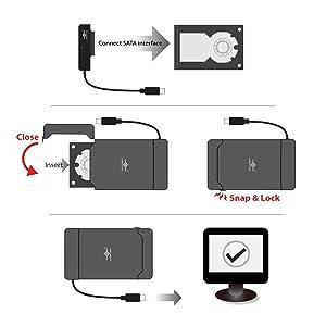 "SATA, 2.5"", HDD, SSD, Hybrid, USB 3.0, USB type A, SATA III, UASP, 7mm, 9.5mm, USB 3.1 Gen2 USB-C"