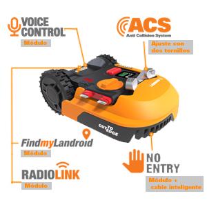 Worx WR141E Robot Cortacésped Landroid M 500 Wifi, Multicolor, Única