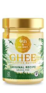 fourth and heart 4th original recipe ghee clarified butter grass-fed indian keto lactose free