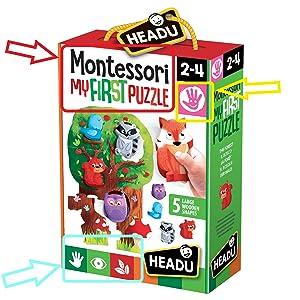 Headu it20133.–.mi Primer Puzzle- Juego Infantil Educativo Montessori - Conoce el Bosque.: Amazon.es: Juguetes y juegos