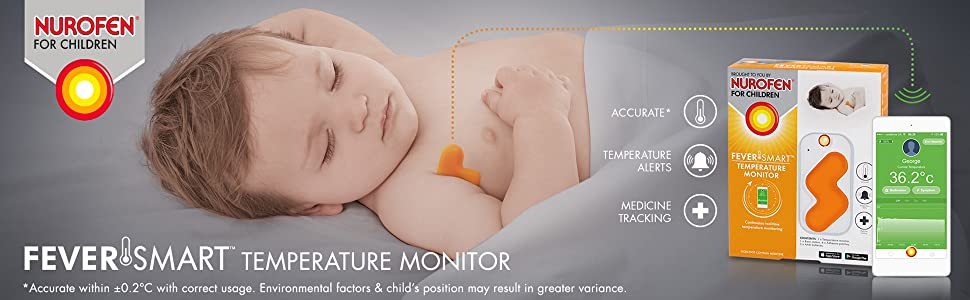 thermometer;baby monitor;temperature monitor;fever;wireless thermometer;medicine tracking