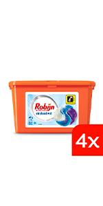 Robijn Stralend Wit 3-in-1 Capsules voordeelverpakking wasmiddel voor witte was