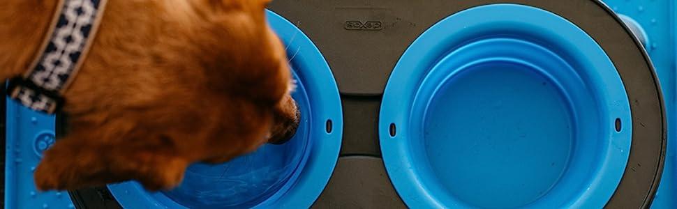 Dog food,dog feeder,dog dish,cat dish,dog bowl, RV, dog camping, camping with dog, dog travel