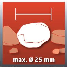 Diamètre max. des particules