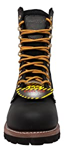 Steel Toe Waterproof Logger boots full grain oiled leather non slip rubber outsole