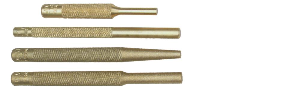 MayhewPro 62277 Brass Punch Kit, 4-Piece