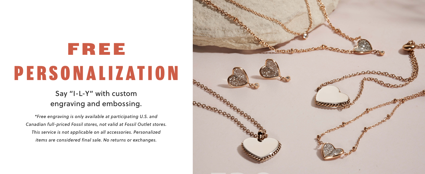 Fossil Jewelry Spring 2021