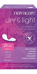 Dry and light slip incontinence pads
