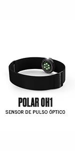 Polar OH1+ Bluetooth y ANT+. Sensor de pulso óptico resistente al ...