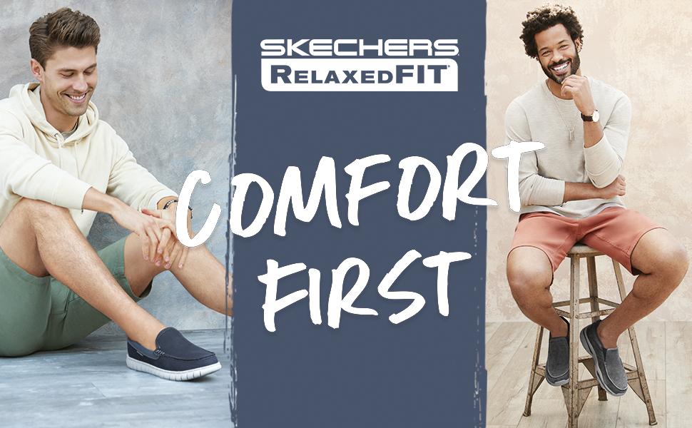 Skechers - Vestibilità rilassata da uomo, comfort