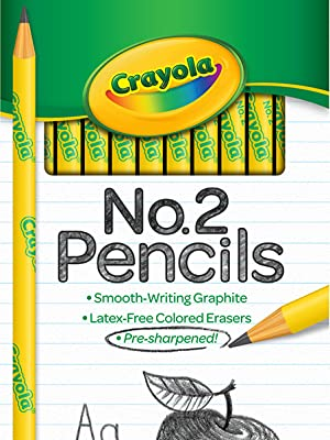 crayola pencils, number 2 pencils, no 2 pencils, no2 pencil, presharpened pencils, school pencils