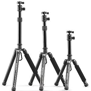 Cullmann Neomax Reisestativ Mit Geringem Packmaß 25 5 Cm Leicht Schwarz 52524 Höhe 112 Cm Kamera