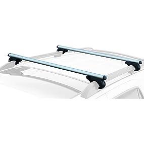 "CargoLoc 2-Piece 52"" Aluminum Roof Top Cross Bar Set – Fits Maximum 46"" Span Across"