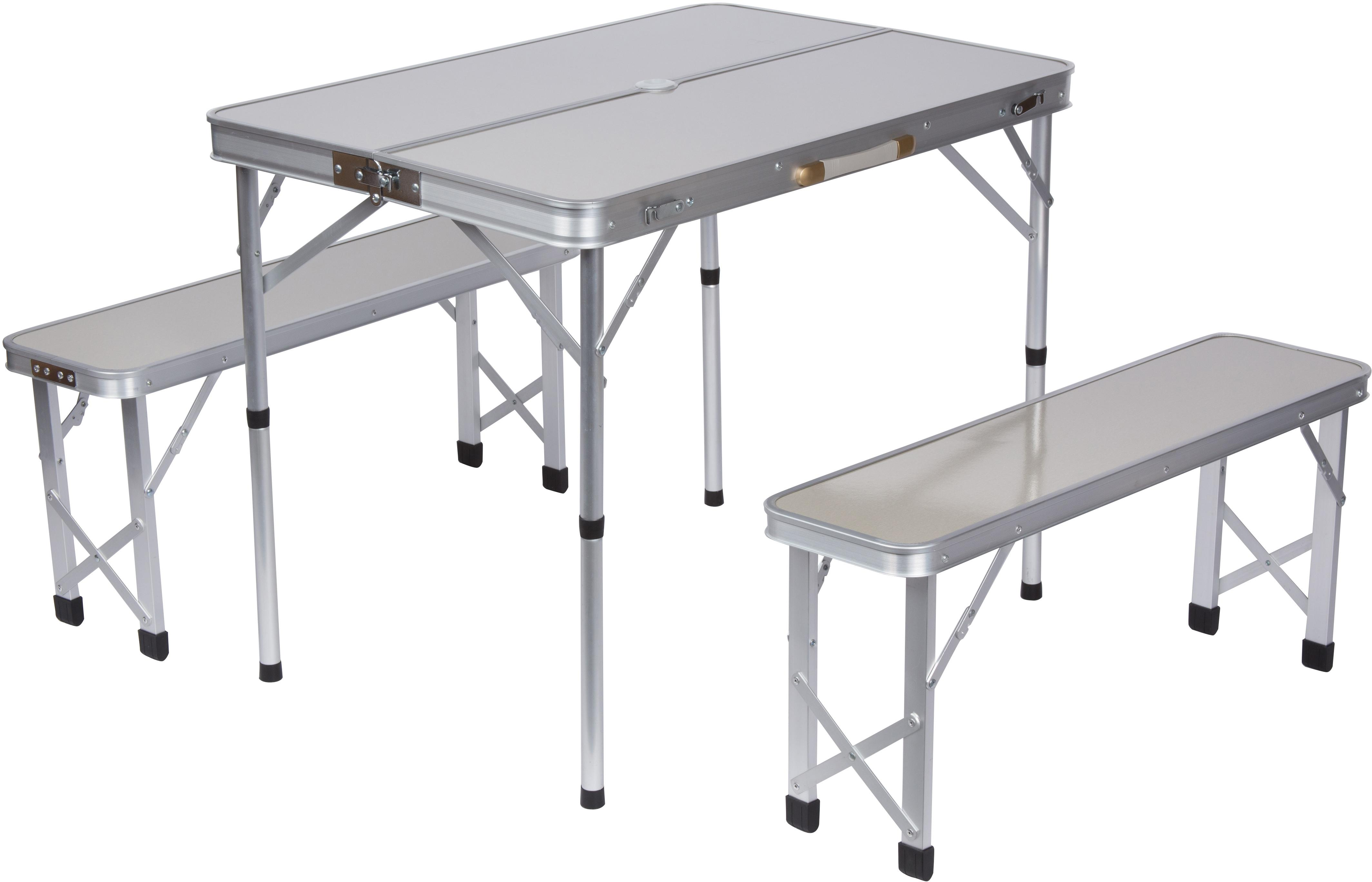 35 4 Quot Portable Aluminum Folding Suitcase Picnic Table With