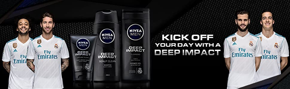 Deep Impact FACE AND BEARD WASH with official sponsors Real Madrid
