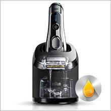Braun Series 9 9290CC Wet&Dry Rasoio Elettrico con Sistema Clean&Charge, Argento