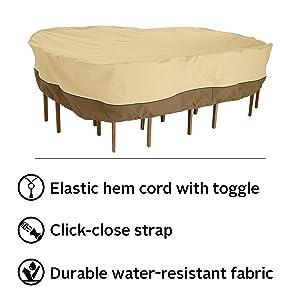 Veranda Patio Rectangular/Oval Table and Chair Set Cover