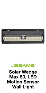 mr beams solar wedge max 80, wireless solar led wall light, solar led outdoor motion spotlight