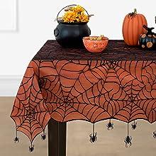 Elrene Home Fashions Crawling Halloween Tablecloth