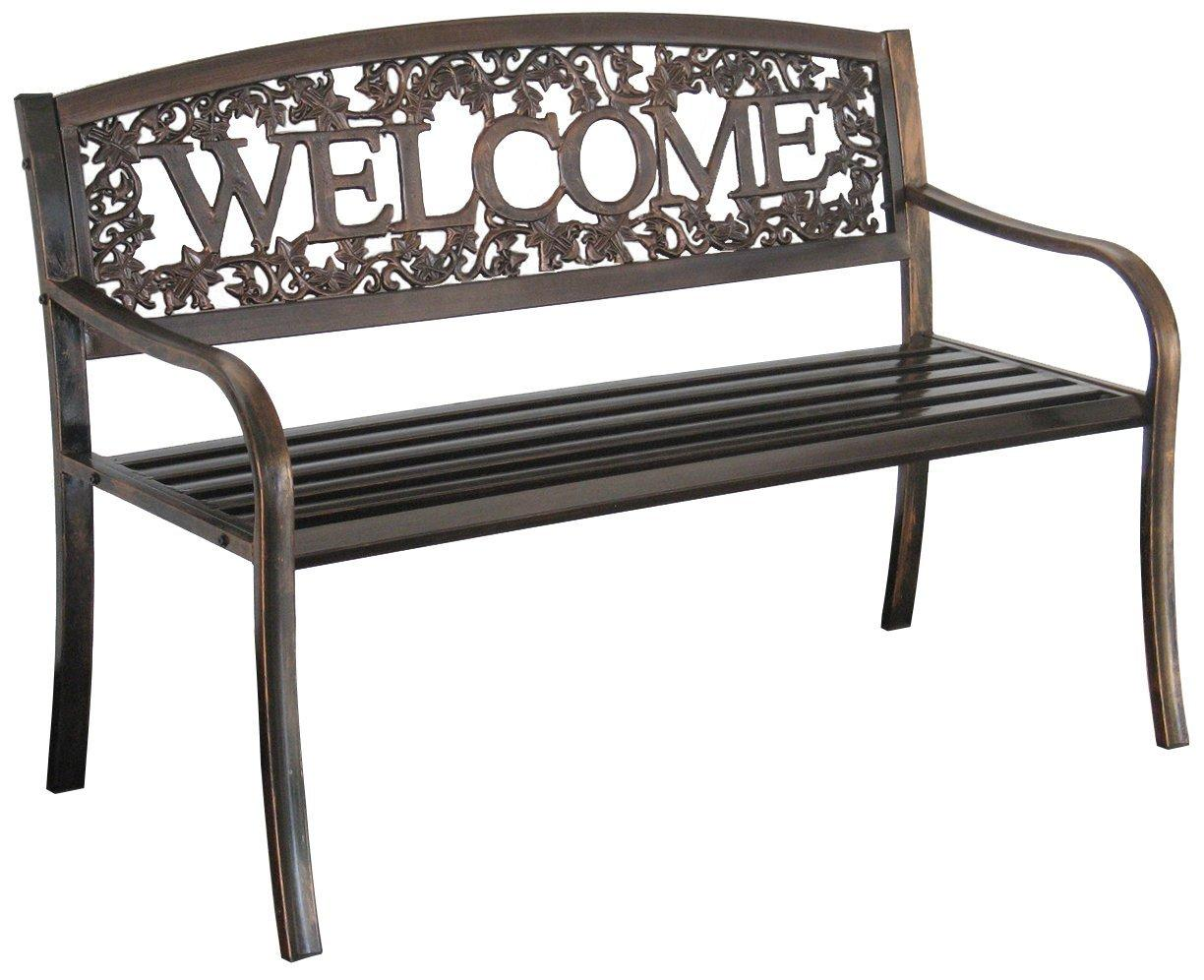 Leigh Country, Bench, Weclome, Front Porch, Yard, Ivy, Powder Coated