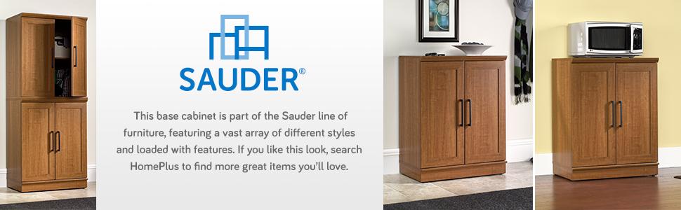 Sienna Oak Sauder HomePlus Basic Storage Cabinet