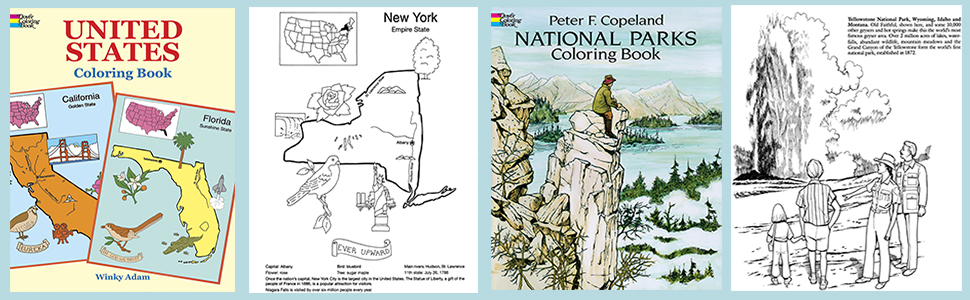 United States Coloring Book (Dover History Coloring Book): Winky Adam:  0800759401680: Amazon.com: Books