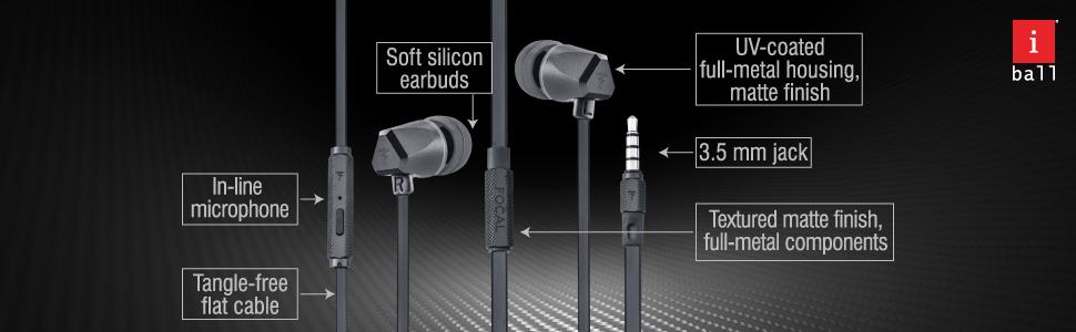 wired earphone, high bass earphone, powerful earphone