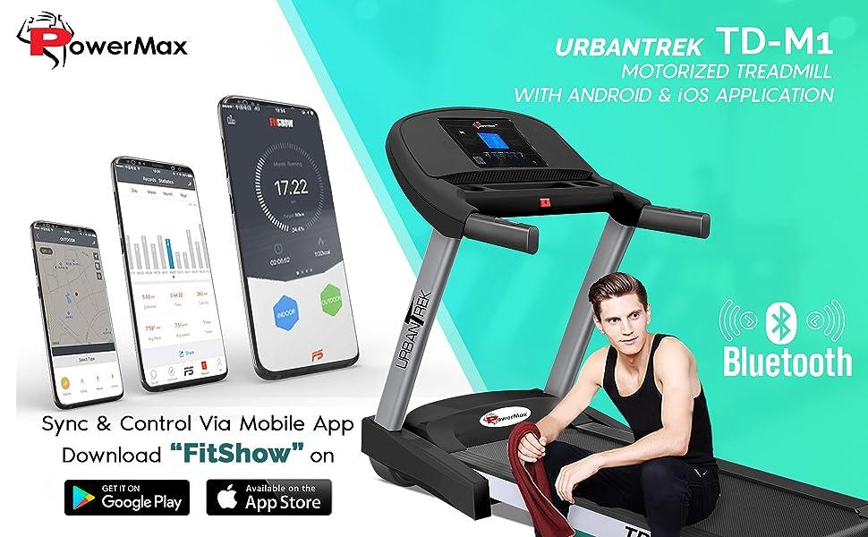 PowerMax Fitness - UrbanTrek TD-M1 - (2.0HP) Plug and Run Treadmill with Android & iOS App