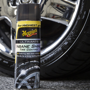 Meguiar, brillo de neumáticos, revestimiento de neumáticos, neumáticos limpios, cepillo de neumáticos