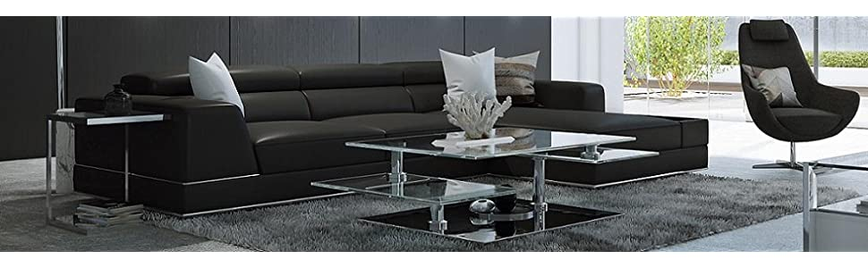 Amazon.com: urbanmod um1839 moderno reclinable Piel ...