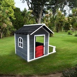 Outdoor Toys Casita CHLOE GREY con Banco. Dimensiones 116 X 138 X ...