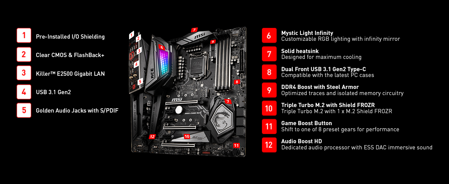 MSI Intel Z390 Motherboard Specifications , MSI MEG Z390 , aliteq , msi motherboard nepal , msi z390 nepal , z390 nepal