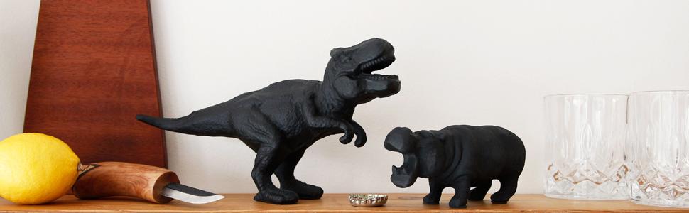 suck uk hippo and dinosaur bottle opener