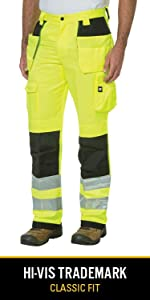high visibility hi-vis reflective durable canvas knee pad workwear ppe