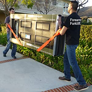Forearm Forklift Lifting and Moving Straps, 2-Person