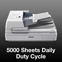 3-Year Warranty with Next Business Day Replacement Epson DS-60000 Large-Format Document Scanner TWAIN /& ISIS Drivers 40ppm