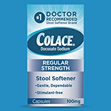 colace regular strength soft gels stool softener laxative gentle dependable constipation