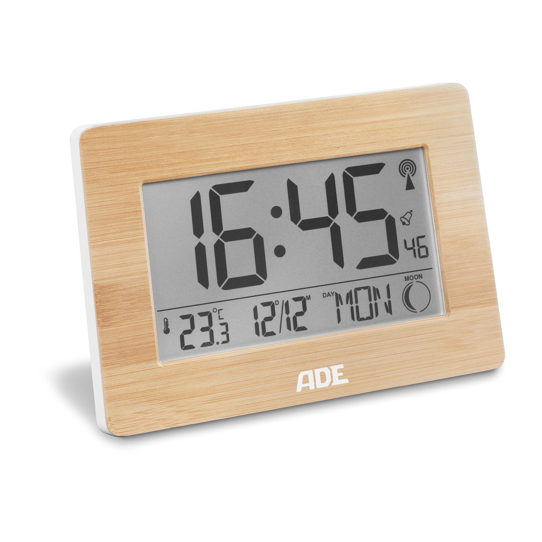 Uhren & Schmuck Sinnvoll Dcf Funk-wanduhr Funk-uhr Bad-uhr Badezimmer-uhr Digital Thermometer Display