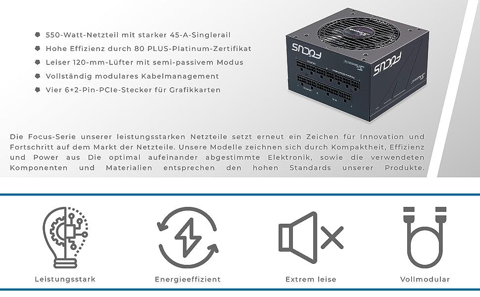Seasonic Focus Px 550 Vollmodulares Pc Netzteil 80plus Computer Zubehör