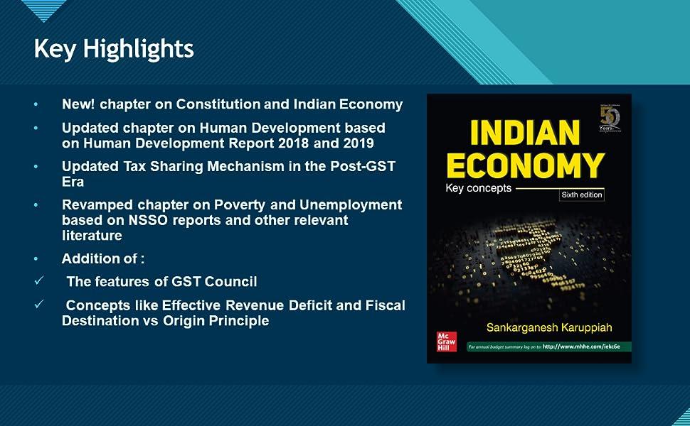 indian economy key concepts