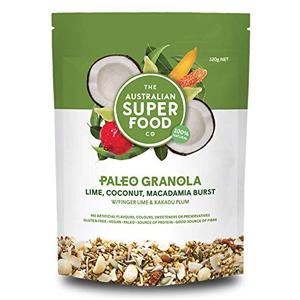 Lime Coconut Macadamia Burst Granola Cereal Organic natural gluten grain free non gmo healthy snacks