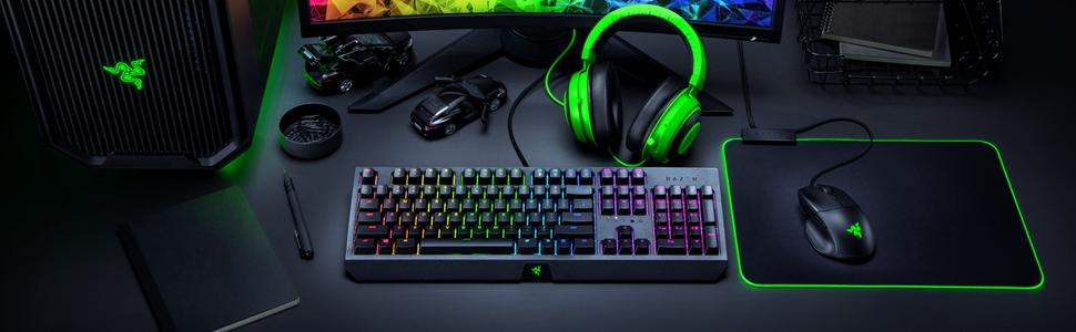 Razer BlackWidow, Teclado para juegos, Esports, Teclado mecánico, Green Switch
